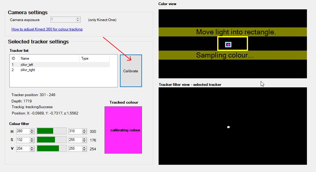 Kinect 360 calibration - colour calibration